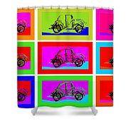 VW Beatle 1b Shower Curtain by Mauro Celotti