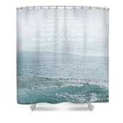 Waiola Water Of Life Shower Curtain by Sharon Mau
