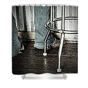 Waitress In Boots Shower Curtain by Chris Berry