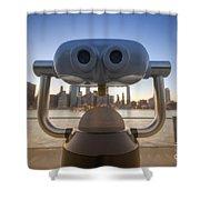 Wall E Shower Curtain by Yhun Suarez