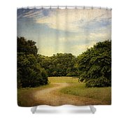 Wandering Path II Shower Curtain by Tamyra Ayles