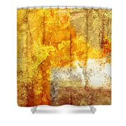 Warm Abstract Shower Curtain by Brett Pfister