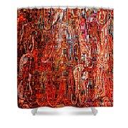 Warm Meets Cool - Abstract Art Shower Curtain by Carol Groenen