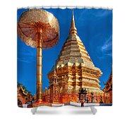 Wat Phrathat Doi Suthep Shower Curtain by Adrian Evans