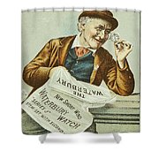Watch Trade Card, C1880 Shower Curtain by Granger