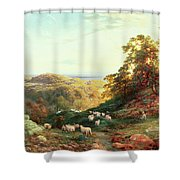 Watching The Flock Shower Curtain by George Vicat Cole