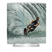 Water Skiing Magic Of Water 10 Shower Curtain by Bob Christopher