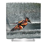 Water Skiing Magic Of Water 15 Shower Curtain by Bob Christopher