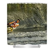 Water Skiing Magic Of Water 8 Shower Curtain by Bob Christopher