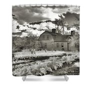 Watercolor In Black And White Shower Curtain by Joann Vitali