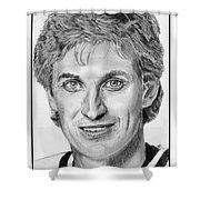 Wayne Gretzky In 1992 Shower Curtain by J McCombie