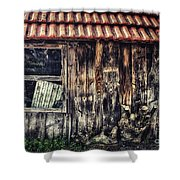 Wayside Shower Curtain by Jutta Maria Pusl