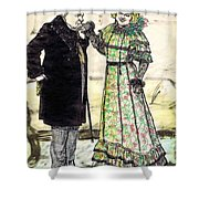 W.c.fields And Jan Shower Curtain by Mel Thompson