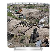 Weapons Caches Shower Curtain by Stocktrek Images