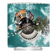 Wee Downtown Bryan Shower Curtain by Nikki Marie Smith