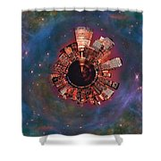 Wee Manhattan Planet Shower Curtain by Nikki Marie Smith