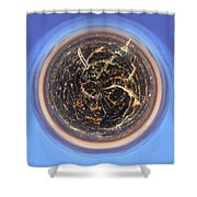 Wee Paris Twilight Planet Shower Curtain by Nikki Marie Smith