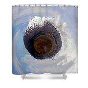 Wee Tongariro Volcanoes Shower Curtain by Nikki Marie Smith