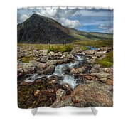 Welsh Valley Shower Curtain by Adrian Evans