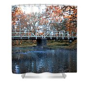 West Valley Green Road Bridge Along The Wissahickon Creek Shower Curtain by Bill Cannon