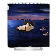 Wet Dreams Shower Curtain by Leah Saulnier The Painting Maniac