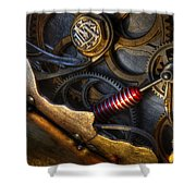 What Gear Am I In You Might Ask Shower Curtain by Bob Christopher