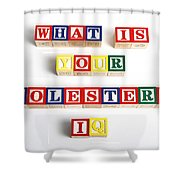 What Is Your Cholesterol Iq Shower Curtain by Photo Researchers