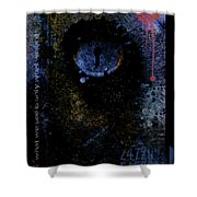 What We See Is Only What We Are Shower Curtain by Ron Jones