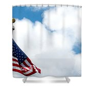 When Shall Truth Set Us Free? Shower Curtain by Rory Sagner