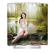 Where Secrets Are Kept Shower Curtain by Mary Hood