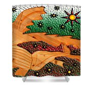 Where The Wild Fish Are Shower Curtain by Robert Margetts