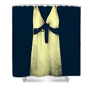white dress Shower Curtain by Joana Kruse