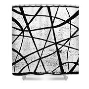 White On Black Shower Curtain by Hakon Soreide
