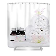 White Spa Shower Curtain by Elena Elisseeva