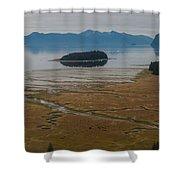 Wild Alaska Coast Shower Curtain by Mike Reid