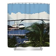 Willemstad - Curacao Shower Curtain by Juergen Weiss