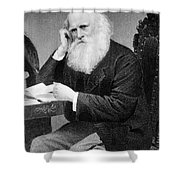 William Cullen Bryant, American Poet Shower Curtain by Photo Researchers