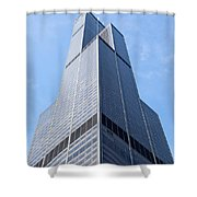 Willis-sears Tower In Chicago Shower Curtain by Paul Velgos