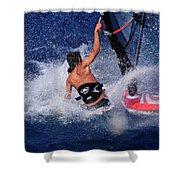 Wind Surfing Shower Curtain by Manolis Tsantakis