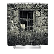 Window Of Memories Shower Curtain by Stelios Kleanthous