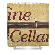 Wine Cellar Shower Curtain by Debbie DeWitt