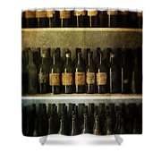 Wine Collection Shower Curtain by Jill Battaglia