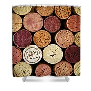 Wine Corks Shower Curtain by Elena Elisseeva
