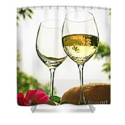 Wine Glasses Shower Curtain by Elena Elisseeva