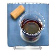Wine Tasting Shower Curtain by Frank Tschakert
