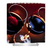 Wineglasses Shower Curtain by Elena Elisseeva