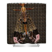 Wings Of Electricity Shower Curtain by DigiArt Diaries by Vicky B Fuller