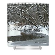 Winter In The Park Shower Curtain by Kay Novy