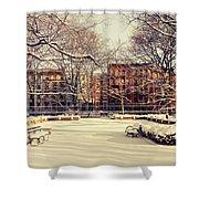 Winter - New York City Shower Curtain by Vivienne Gucwa