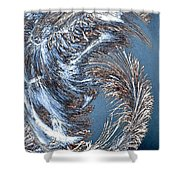 Wintry Pine Needles Shower Curtain by Will Borden